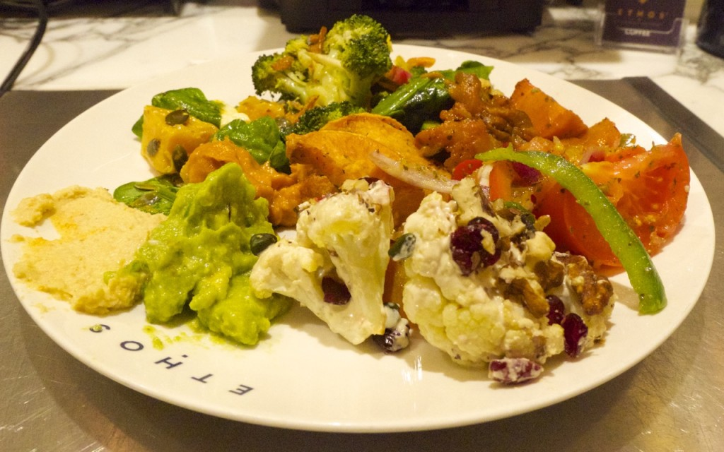 Ethos, Vegetarian, Vegan, Healthy, Restaurant, London, salad