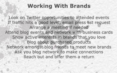 Working With Brands Zoe London Blogging Talk