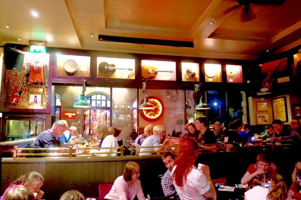 Hard Rock London Vegetarian Interior