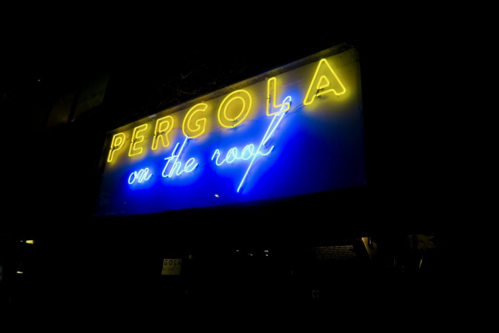 Pergola On The Roof Sign
