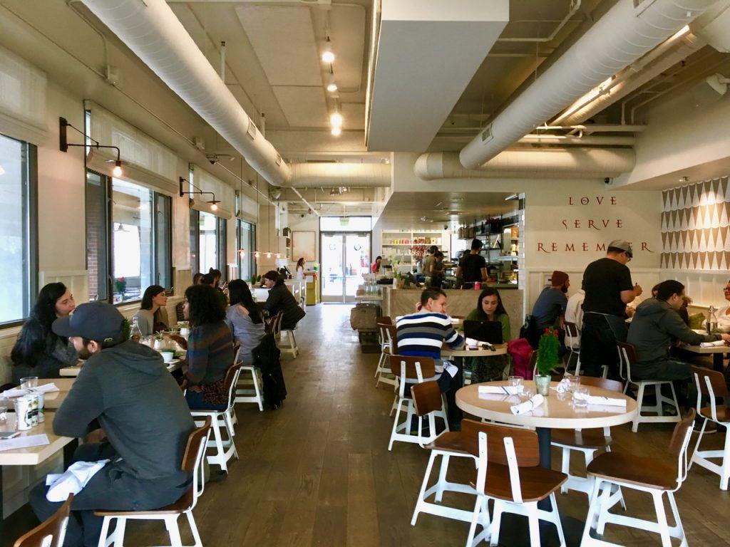 Cafe Gratitude Interior LA