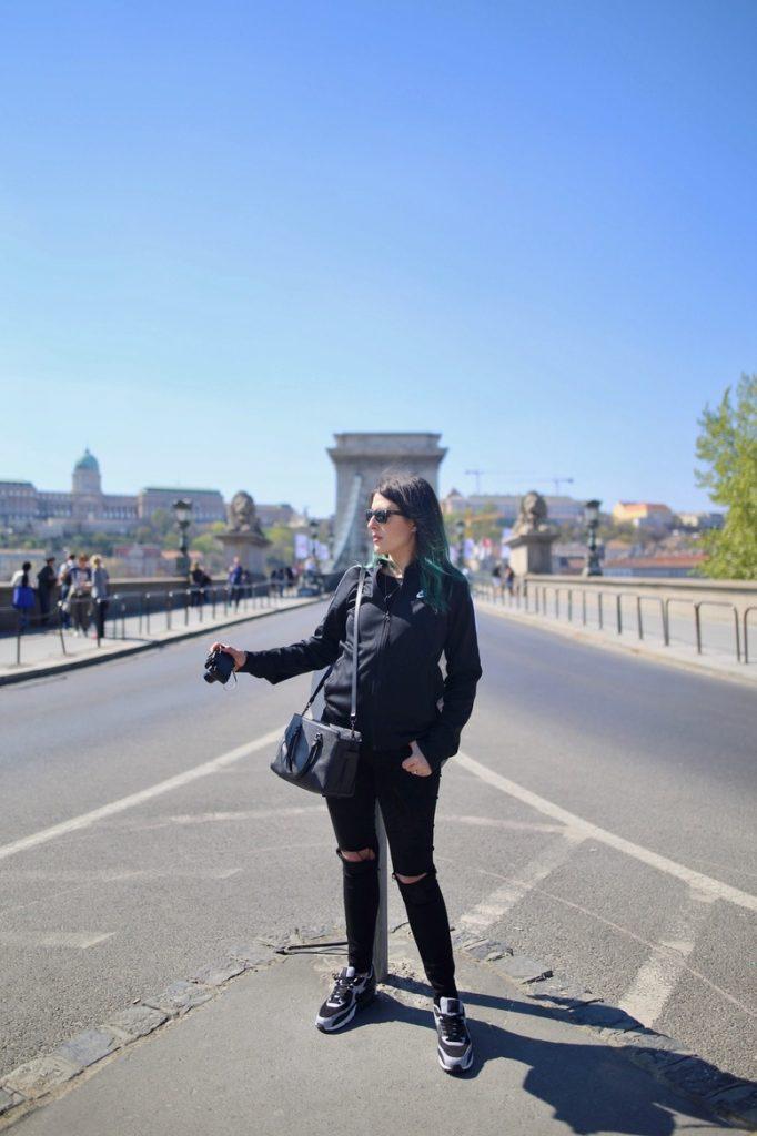 Chain Bridge Budapest city Style