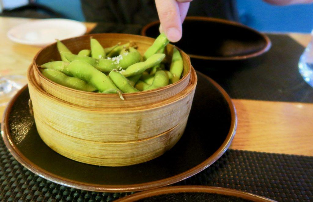 Edamame vegan starter Chi Kitchen Debenhams