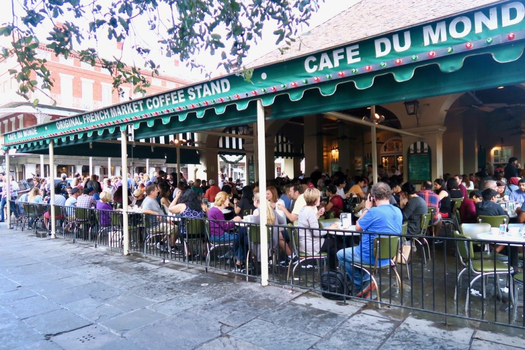 Outside Cafe Du Monde New Orleans