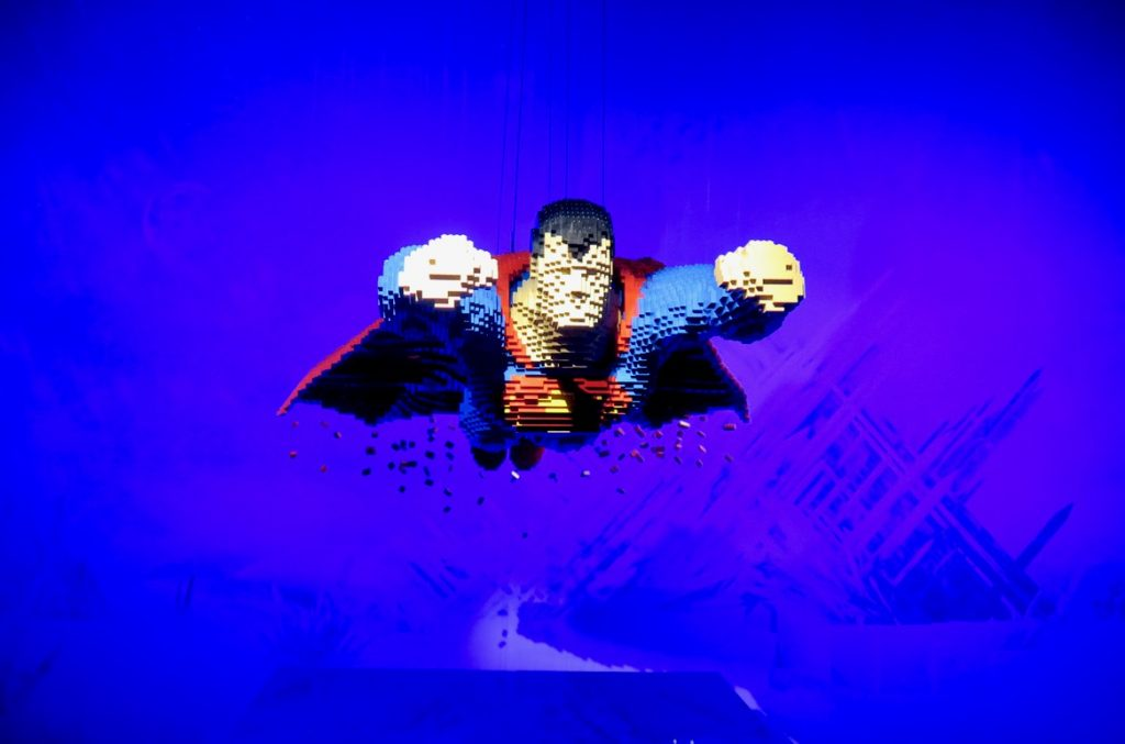superman the art of the brick