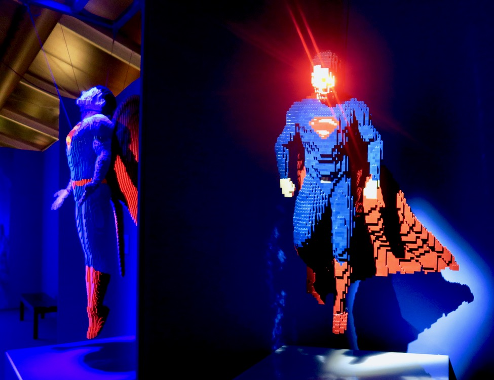 Superman Laser eyes lego
