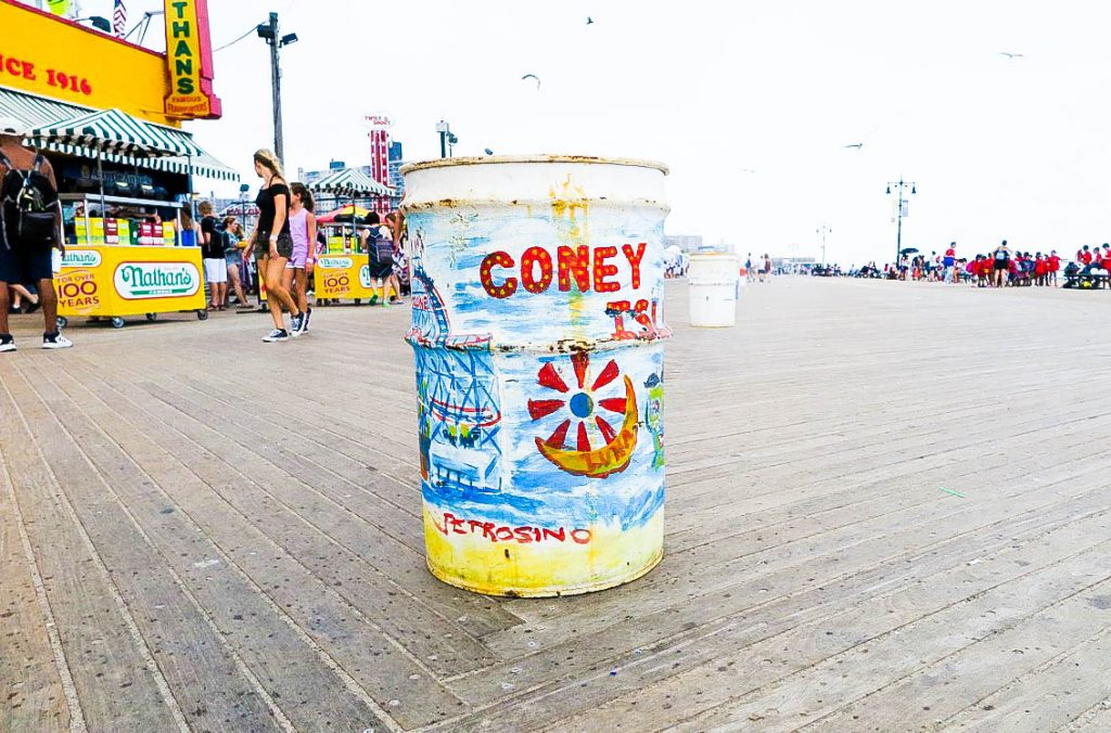 Coney Island Trash Can