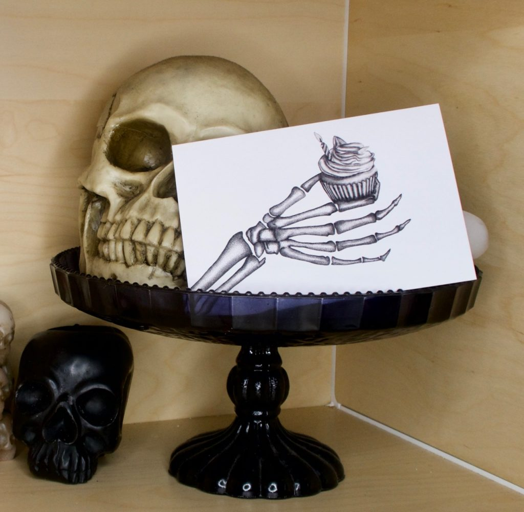 Emma Inks Designs Skeleton Hand Card