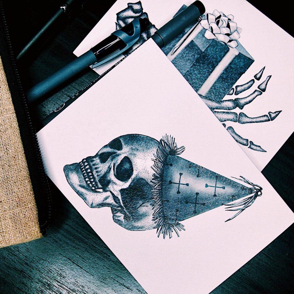 Emma Inks Designs Patry Skull Card
