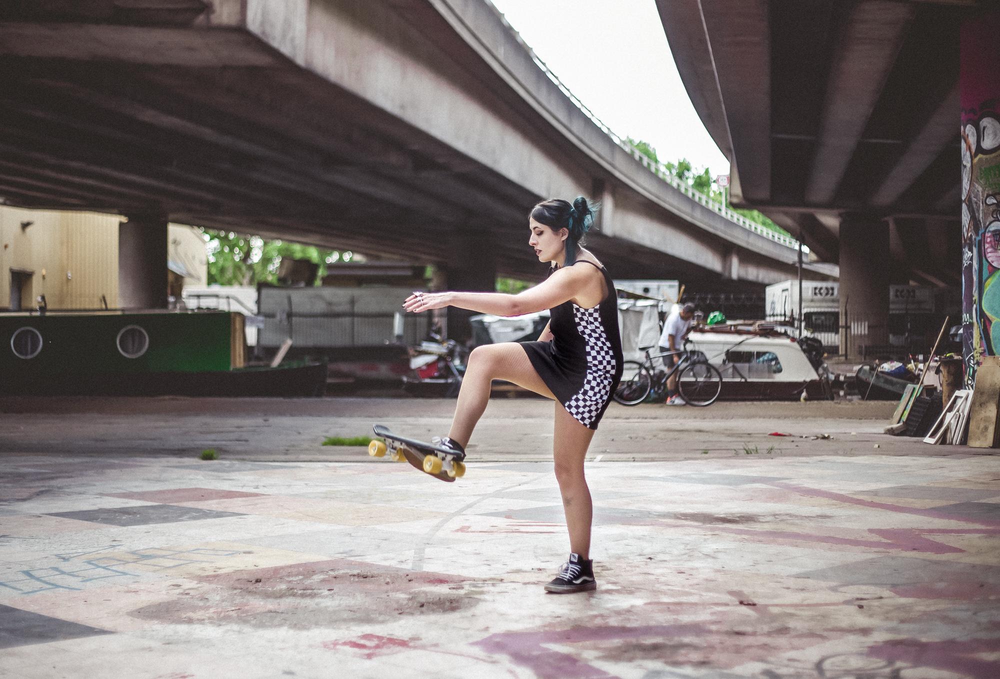 Emma Inks alternative style post with skateboard