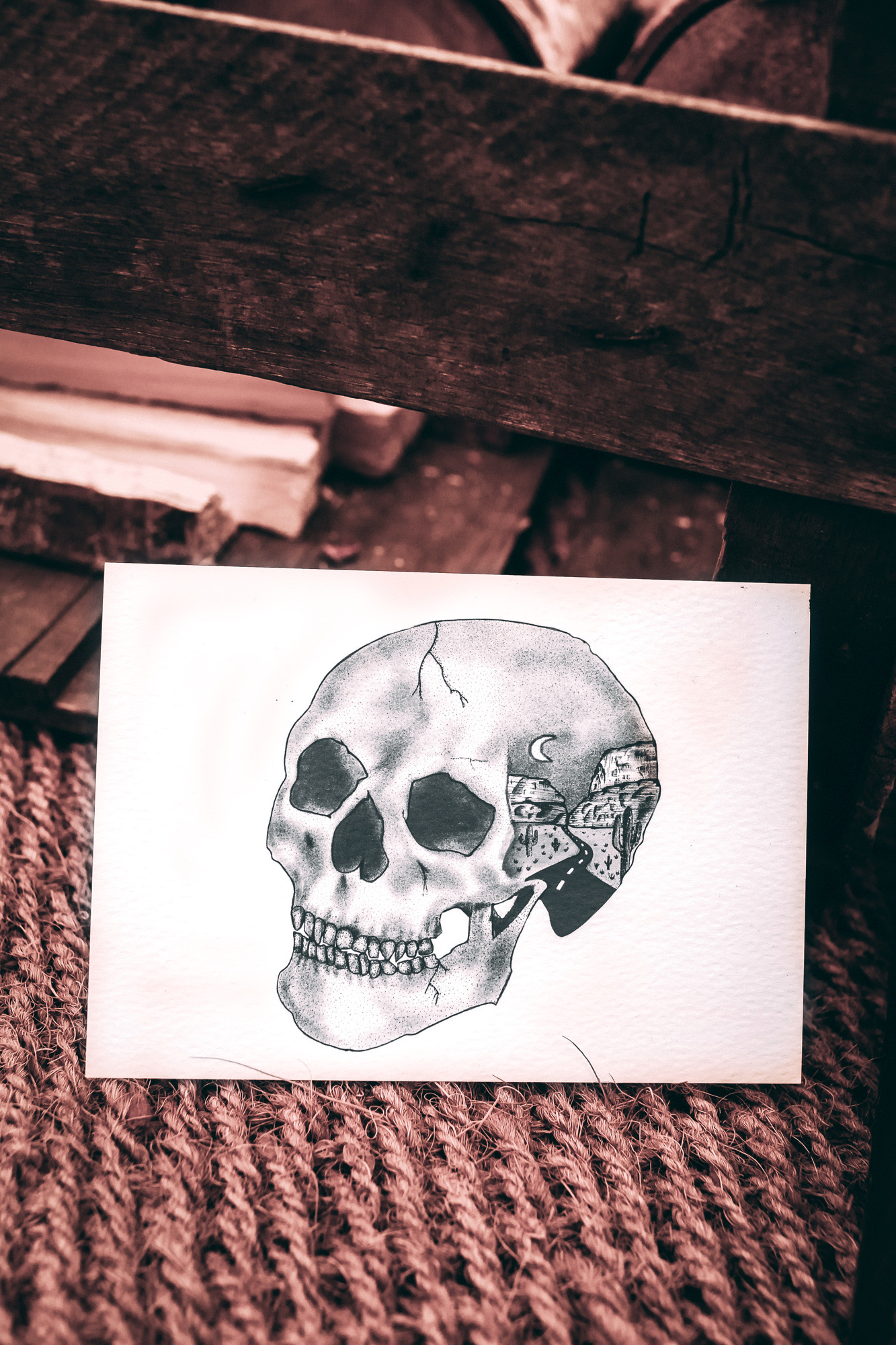 Emma Inks Studio Skull Art