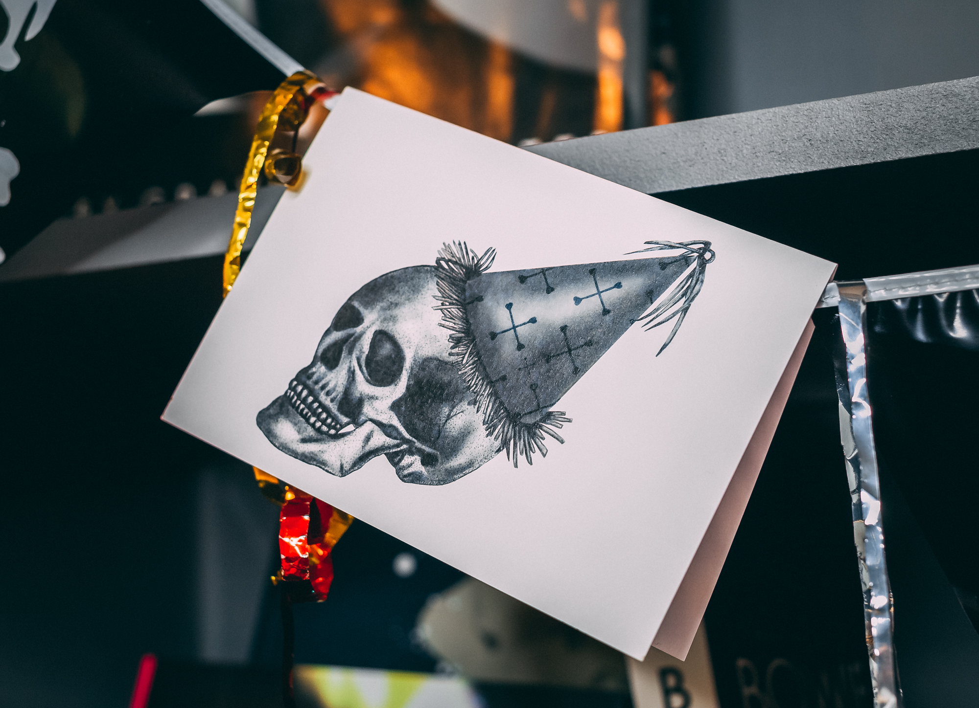 Emma Inks Studio Skull Birthday Card