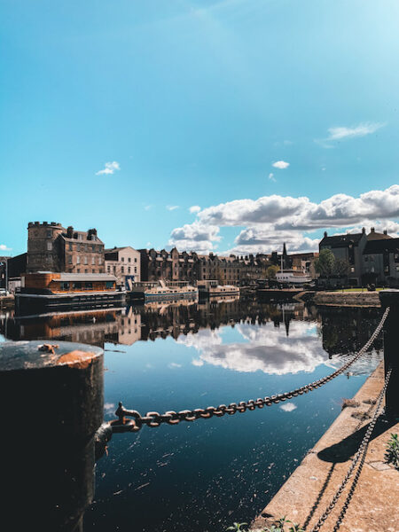 Leith Shore in the sunshine - Emma Inks Blog
