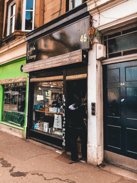 Outside Little Fitzroy Coffee Shop Edinburgh - Emma Inks Guide